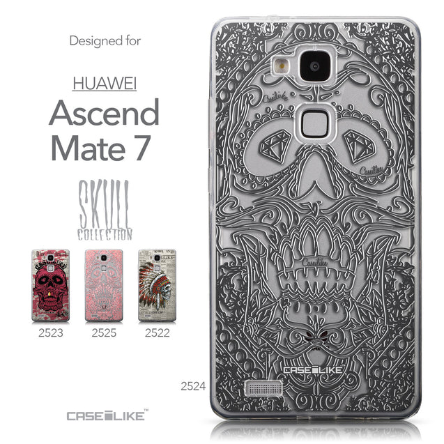Collection - CASEiLIKE Huawei Ascend Mate 7 back cover Art of Skull 2524