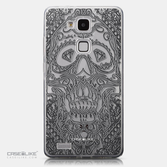 CASEiLIKE Huawei Ascend Mate 7 back cover Art of Skull 2524