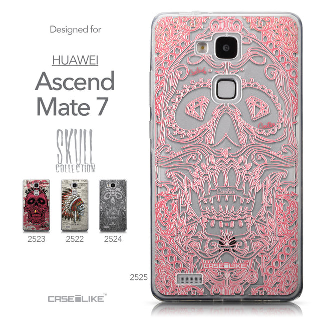 Collection - CASEiLIKE Huawei Ascend Mate 7 back cover Art of Skull 2525