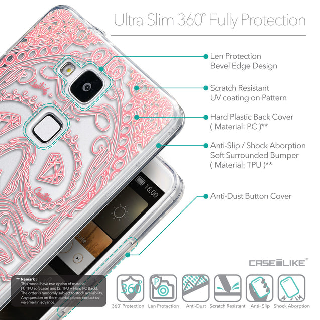 Details in English - CASEiLIKE Huawei Ascend Mate 7 back cover Art of Skull 2525