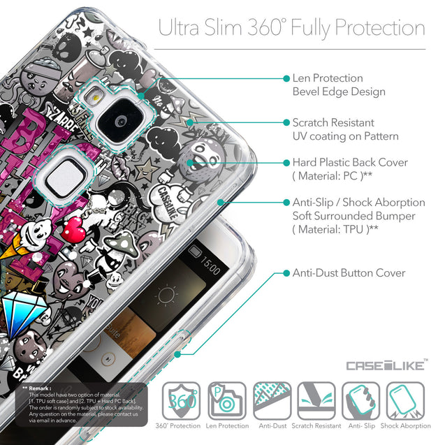 Details in English - CASEiLIKE Huawei Ascend Mate 7 back cover Graffiti 2704