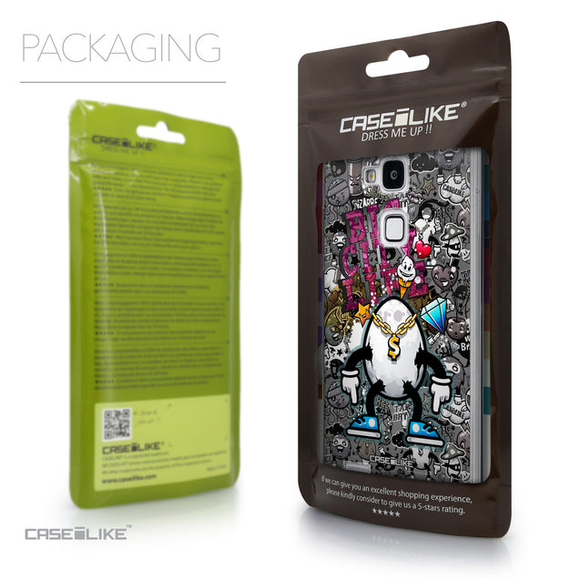 Packaging - CASEiLIKE Huawei Ascend Mate 7 back cover Graffiti 2704