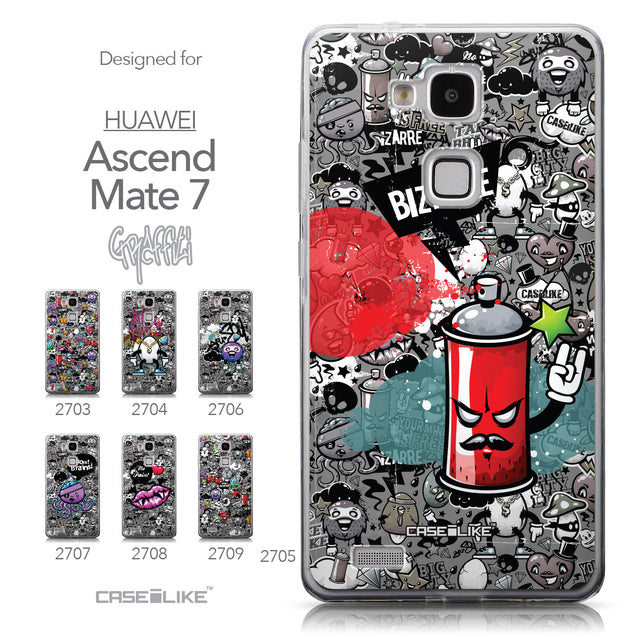 Collection - CASEiLIKE Huawei Ascend Mate 7 back cover Graffiti 2705