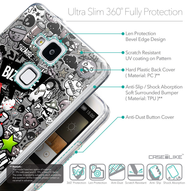 Details in English - CASEiLIKE Huawei Ascend Mate 7 back cover Graffiti 2705