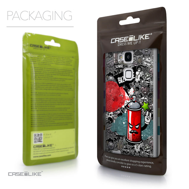 Packaging - CASEiLIKE Huawei Ascend Mate 7 back cover Graffiti 2705