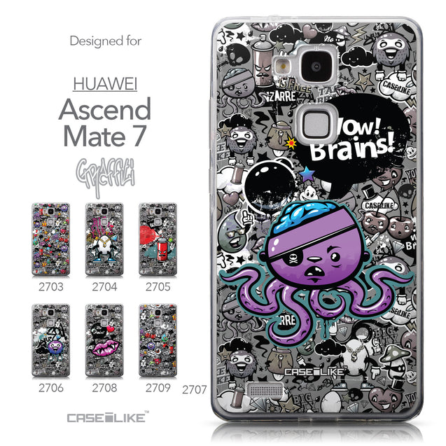 Collection - CASEiLIKE Huawei Ascend Mate 7 back cover Graffiti 2707