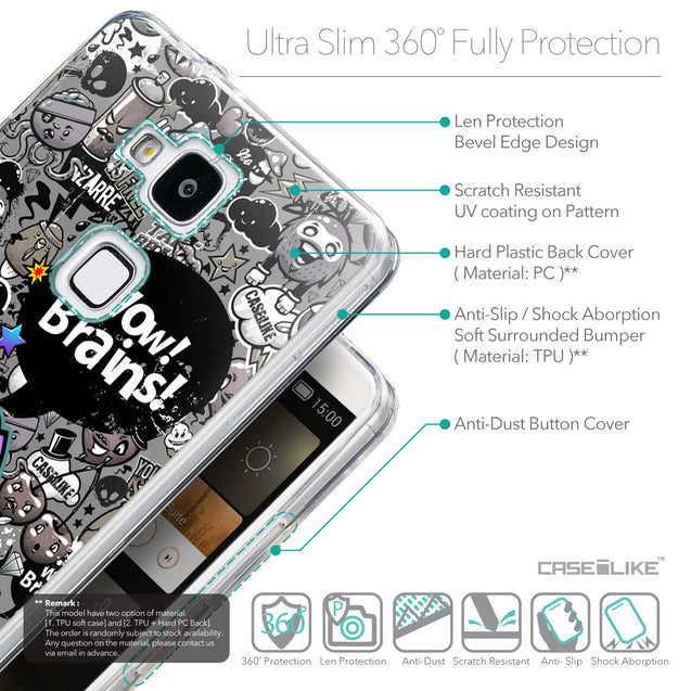 Details in English - CASEiLIKE Huawei Ascend Mate 7 back cover Graffiti 2707