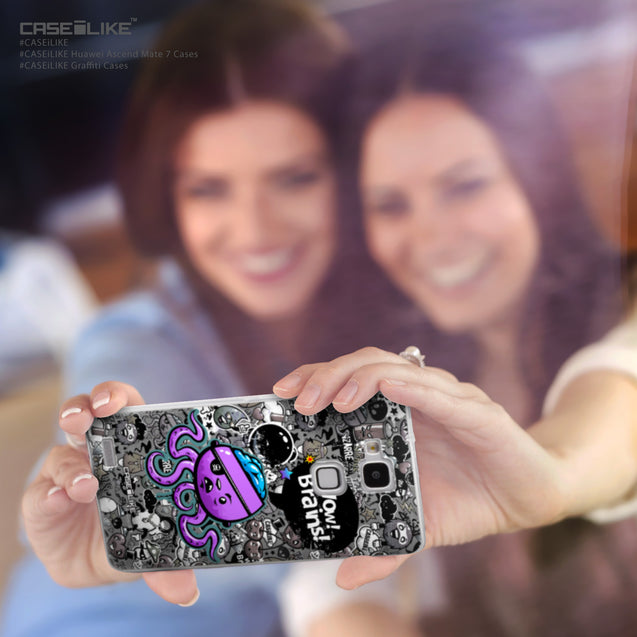 Share - CASEiLIKE Huawei Ascend Mate 7 back cover Graffiti 2707