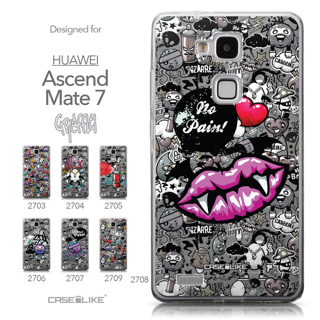 Collection - CASEiLIKE Huawei Ascend Mate 7 back cover Graffiti 2708