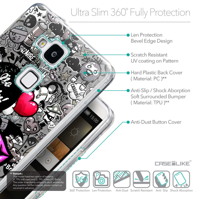 Details in English - CASEiLIKE Huawei Ascend Mate 7 back cover Graffiti 2708