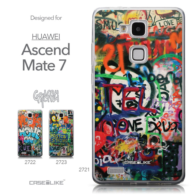 Collection - CASEiLIKE Huawei Ascend Mate 7 back cover Graffiti 2721