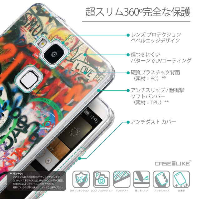 Details in Japanese - CASEiLIKE Huawei Ascend Mate 7 back cover Graffiti 2721