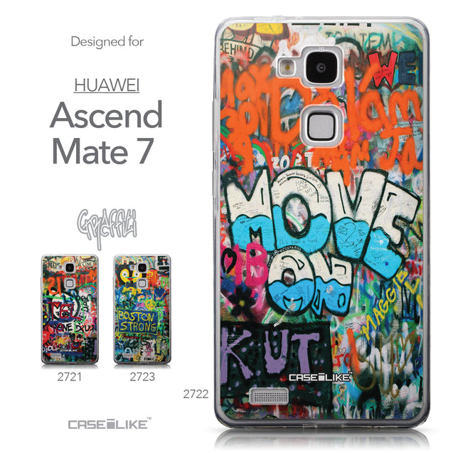 Collection - CASEiLIKE Huawei Ascend Mate 7 back cover Graffiti 2722
