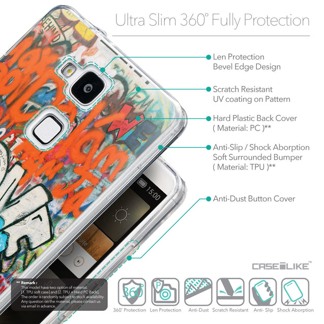 Details in English - CASEiLIKE Huawei Ascend Mate 7 back cover Graffiti 2722