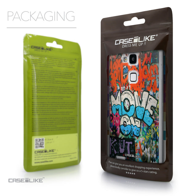 Packaging - CASEiLIKE Huawei Ascend Mate 7 back cover Graffiti 2722
