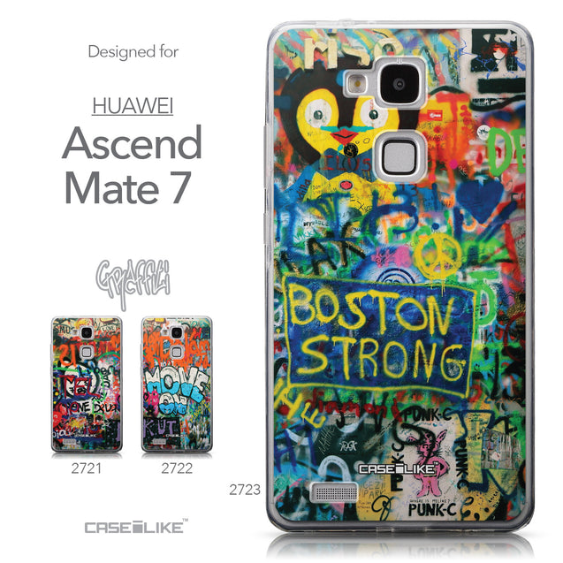 Collection - CASEiLIKE Huawei Ascend Mate 7 back cover Graffiti 2723