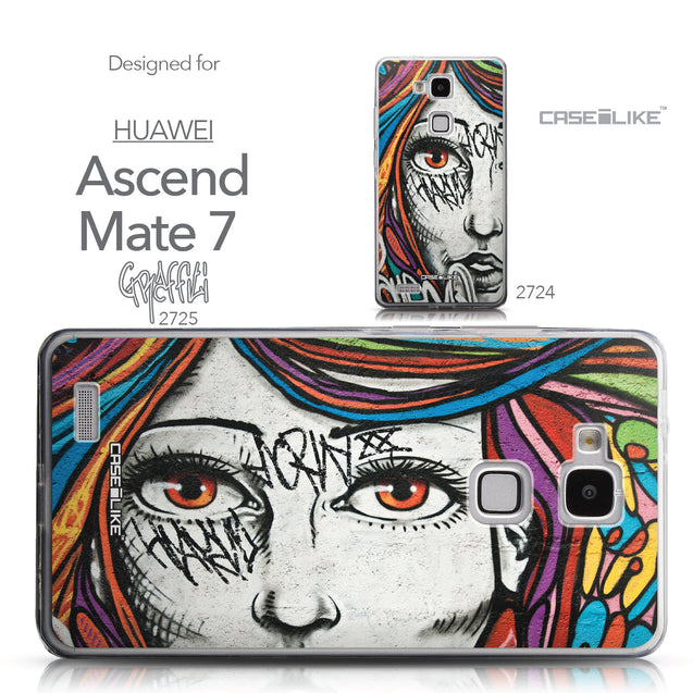 Collection - CASEiLIKE Huawei Ascend Mate 7 back cover Graffiti Girl 2725