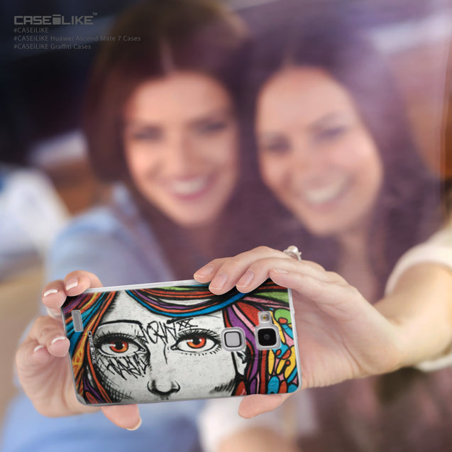 Share - CASEiLIKE Huawei Ascend Mate 7 back cover Graffiti Girl 2725