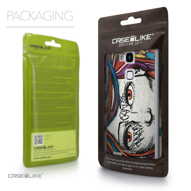 Packaging - CASEiLIKE Huawei Ascend Mate 7 back cover Graffiti Girl 2725