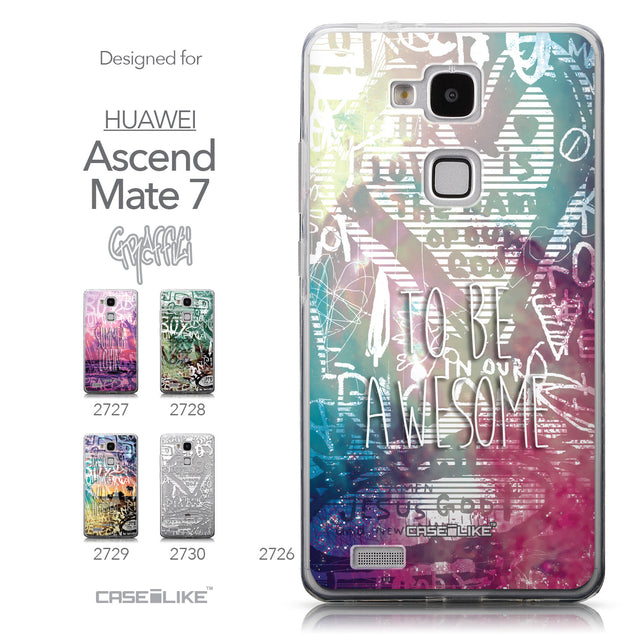 Collection - CASEiLIKE Huawei Ascend Mate 7 back cover Graffiti 2726