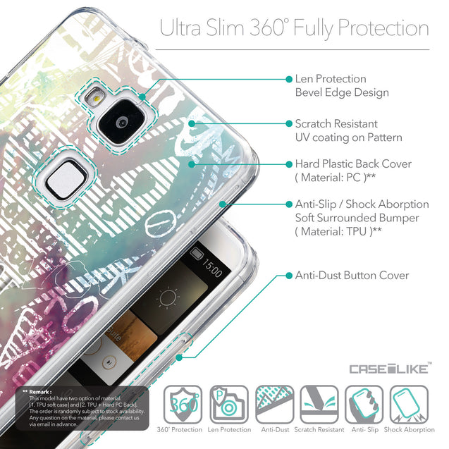 Details in English - CASEiLIKE Huawei Ascend Mate 7 back cover Graffiti 2726