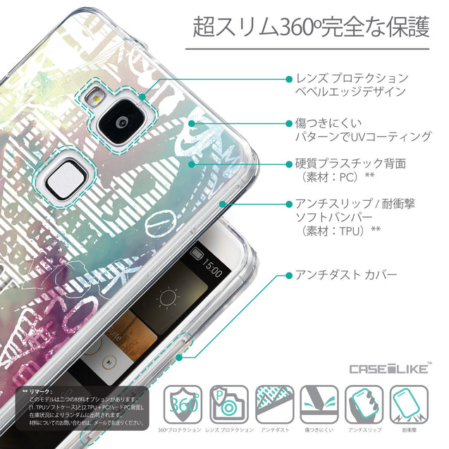 Details in Japanese - CASEiLIKE Huawei Ascend Mate 7 back cover Graffiti 2726