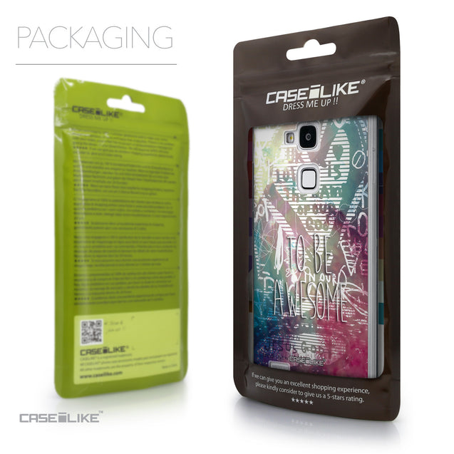 Packaging - CASEiLIKE Huawei Ascend Mate 7 back cover Graffiti 2726