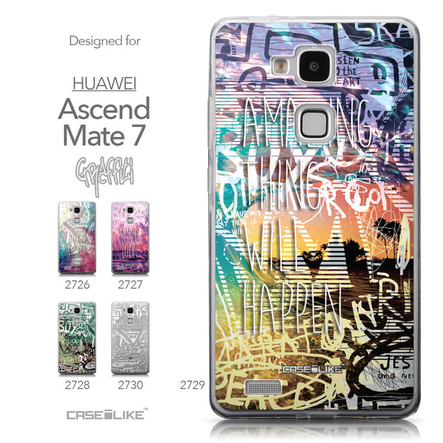 Collection - CASEiLIKE Huawei Ascend Mate 7 back cover Graffiti 2729