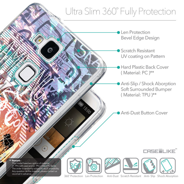 Details in English - CASEiLIKE Huawei Ascend Mate 7 back cover Graffiti 2729