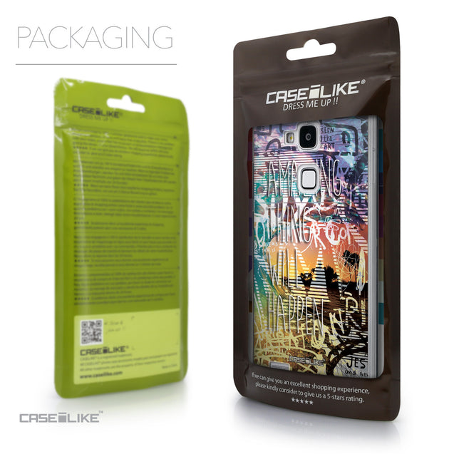 Packaging - CASEiLIKE Huawei Ascend Mate 7 back cover Graffiti 2729
