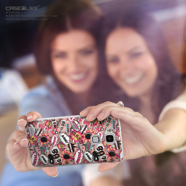 Share - CASEiLIKE Huawei Ascend Mate 7 back cover Comic Captions Pink 2912