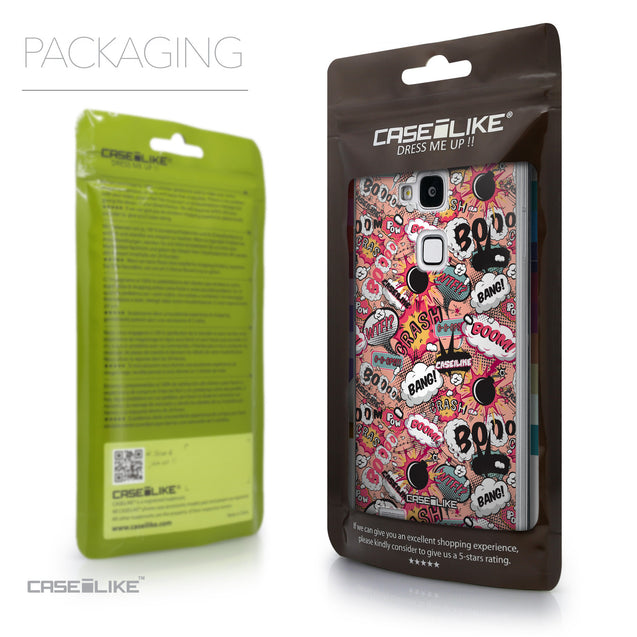 Packaging - CASEiLIKE Huawei Ascend Mate 7 back cover Comic Captions Pink 2912