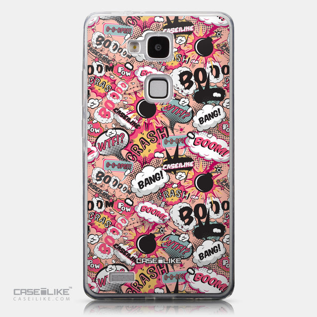 CASEiLIKE Huawei Ascend Mate 7 back cover Comic Captions Pink 2912