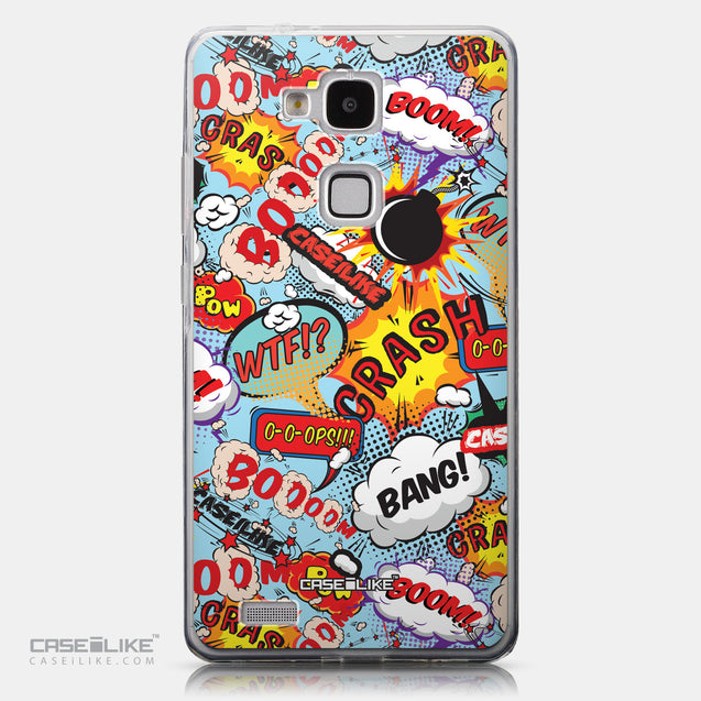 CASEiLIKE Huawei Ascend Mate 7 back cover Comic Captions Blue 2913
