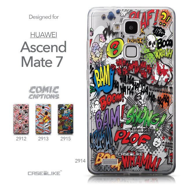 Collection - CASEiLIKE Huawei Ascend Mate 7 back cover Comic Captions 2914