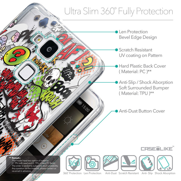 Details in English - CASEiLIKE Huawei Ascend Mate 7 back cover Comic Captions 2914