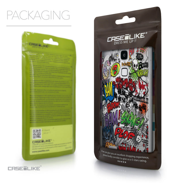 Packaging - CASEiLIKE Huawei Ascend Mate 7 back cover Comic Captions 2914