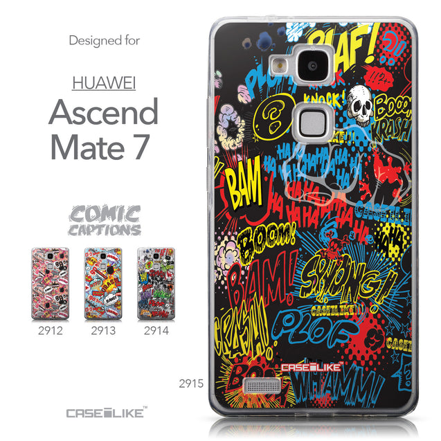 Collection - CASEiLIKE Huawei Ascend Mate 7 back cover Comic Captions Black 2915
