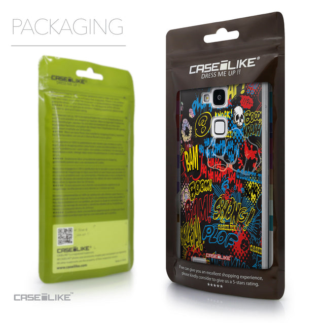 Packaging - CASEiLIKE Huawei Ascend Mate 7 back cover Comic Captions Black 2915