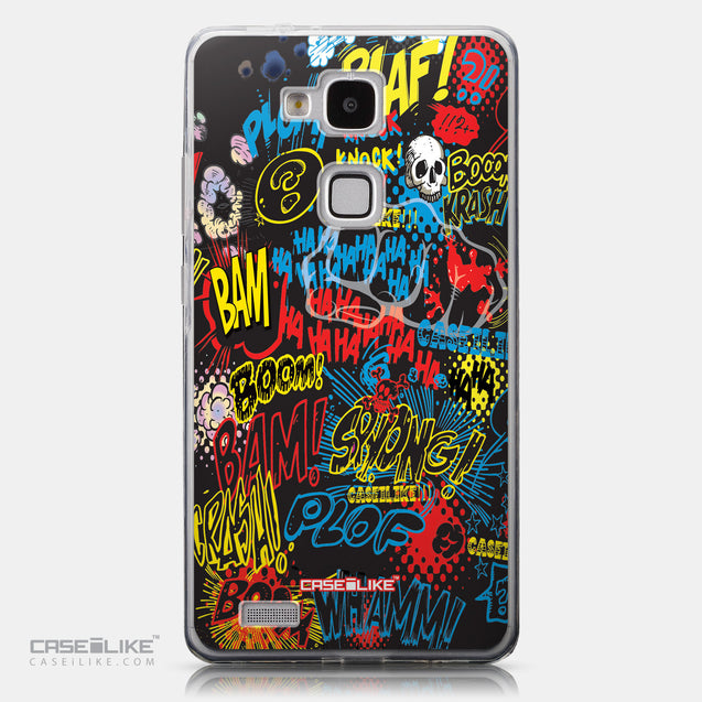 CASEiLIKE Huawei Ascend Mate 7 back cover Comic Captions Black 2915