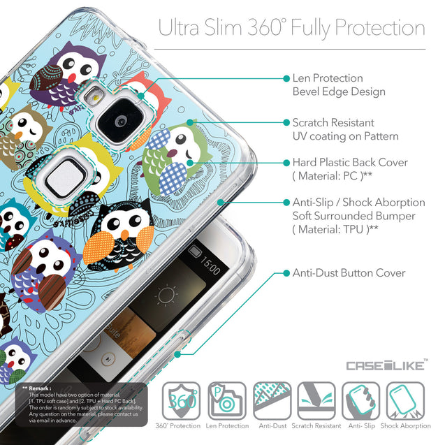 Details in English - CASEiLIKE Huawei Ascend Mate 7 back cover Owl Graphic Design 3312
