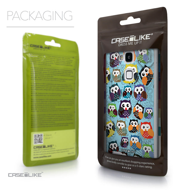 Packaging - CASEiLIKE Huawei Ascend Mate 7 back cover Owl Graphic Design 3312