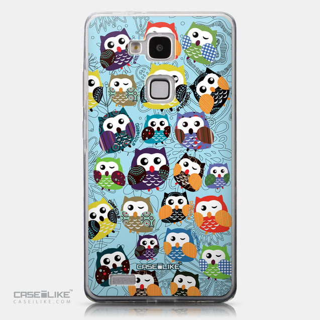 CASEiLIKE Huawei Ascend Mate 7 back cover Owl Graphic Design 3312
