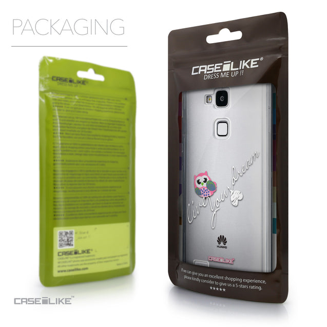 Packaging - CASEiLIKE Huawei Ascend Mate 7 back cover Owl Graphic Design 3314