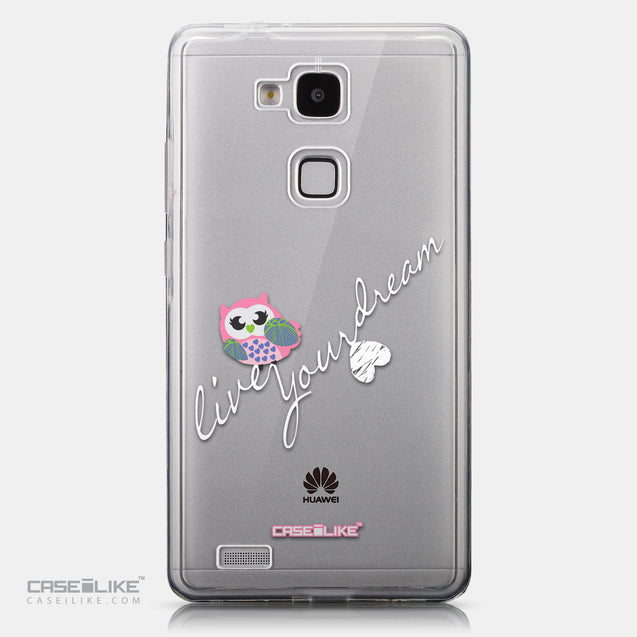 CASEiLIKE Huawei Ascend Mate 7 back cover Owl Graphic Design 3314