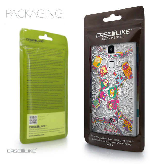 Packaging - CASEiLIKE Huawei Ascend Mate 7 back cover Owl Graphic Design 3316
