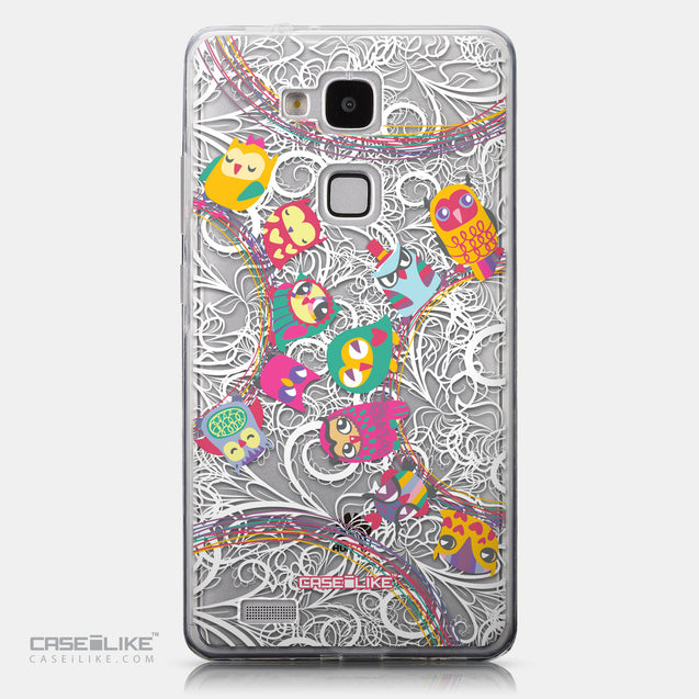 CASEiLIKE Huawei Ascend Mate 7 back cover Owl Graphic Design 3316