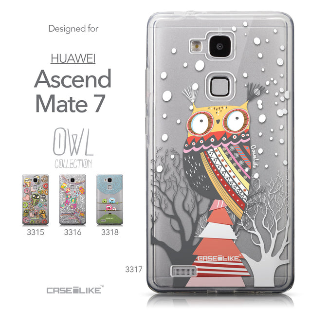 Collection - CASEiLIKE Huawei Ascend Mate 7 back cover Owl Graphic Design 3317
