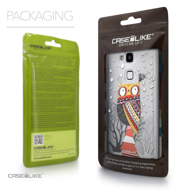 Packaging - CASEiLIKE Huawei Ascend Mate 7 back cover Owl Graphic Design 3317