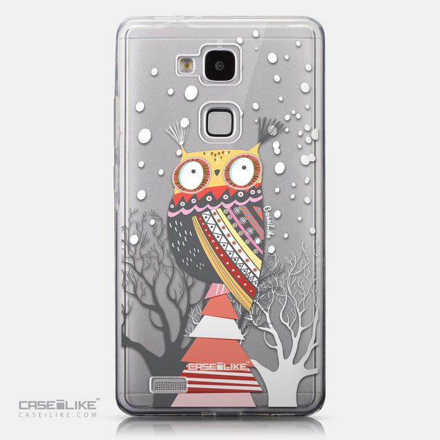 CASEiLIKE Huawei Ascend Mate 7 back cover Owl Graphic Design 3317